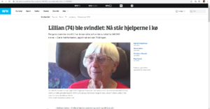 Faksimile av artikkel fra NRK